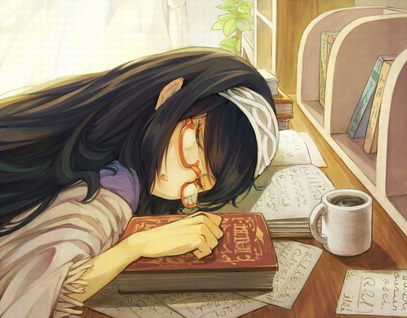 【仮眠】デスクに突っ伏してうたた寝してる女子たちの二次画像【16】
