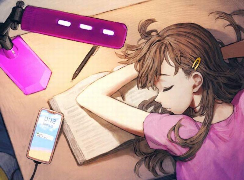 【仮眠】デスクに突っ伏してうたた寝してる女子たちの二次画像【17】