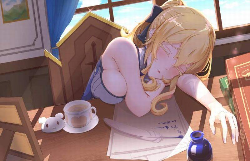 【仮眠】デスクに突っ伏してうたた寝してる女子たちの二次画像【21】