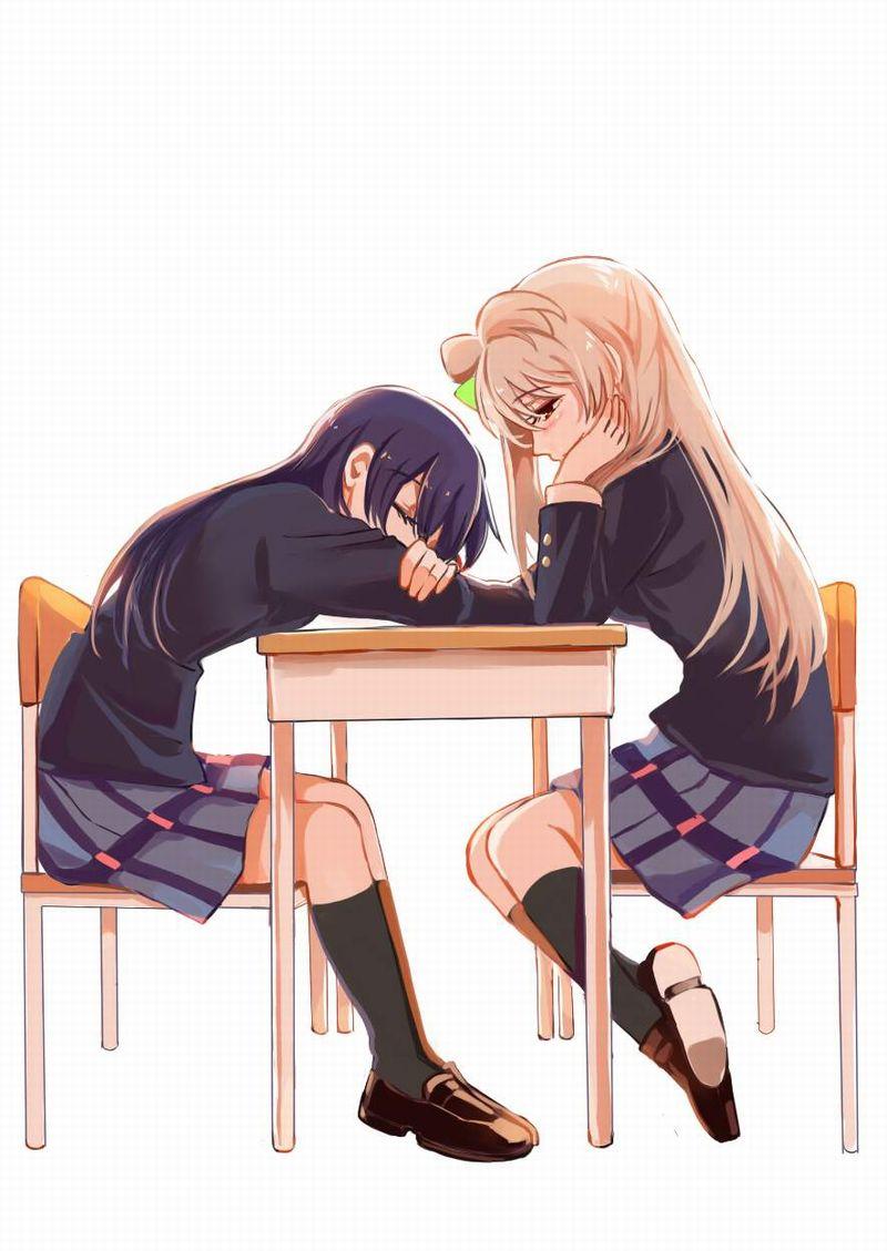 【仮眠】デスクに突っ伏してうたた寝してる女子たちの二次画像【33】