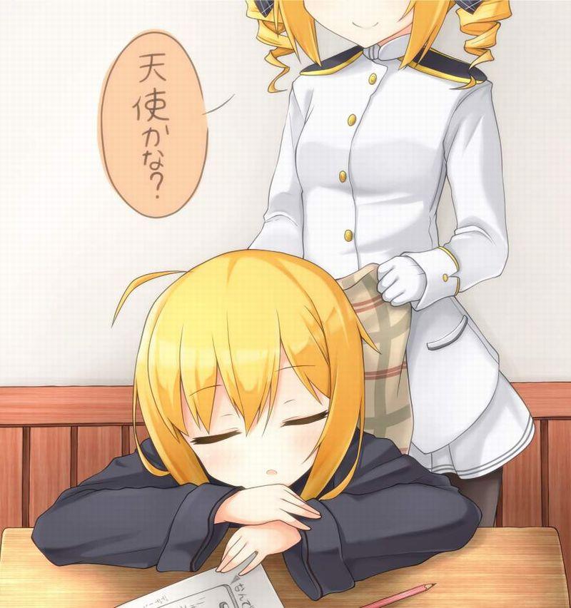 【仮眠】デスクに突っ伏してうたた寝してる女子たちの二次画像【35】