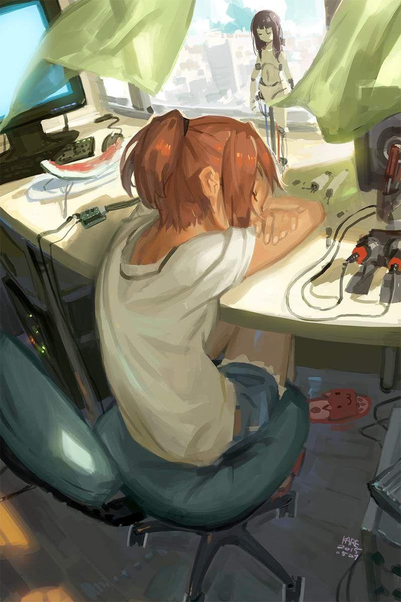 【仮眠】デスクに突っ伏してうたた寝してる女子たちの二次画像【36】