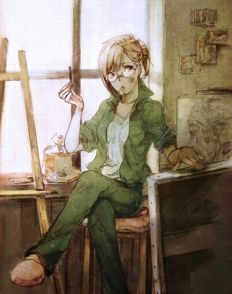 【芸術の秋】キャンバスと向き合う女子達の二次エロ画像【7】