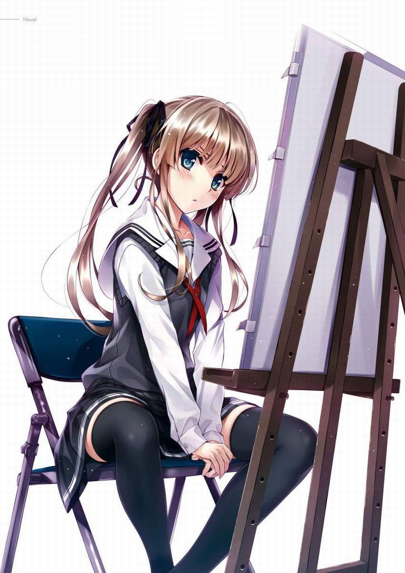 【芸術の秋】キャンバスと向き合う女子達の二次エロ画像【9】
