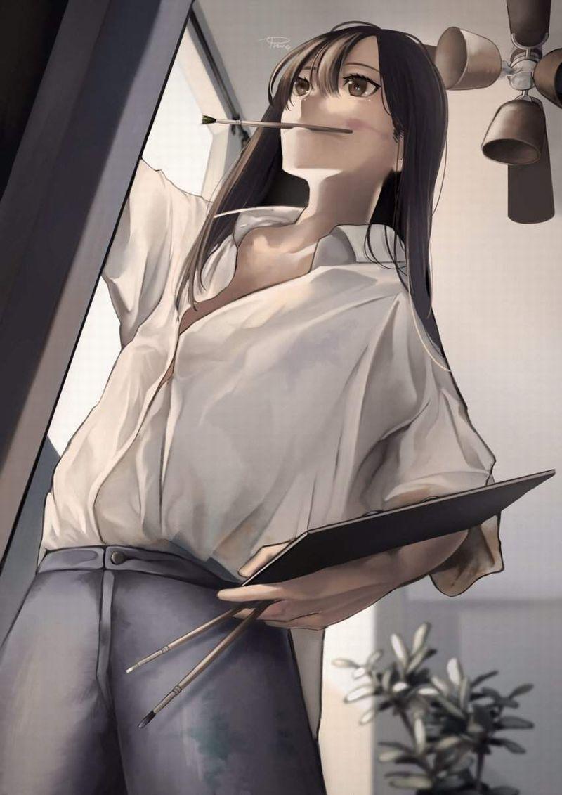 【芸術の秋】キャンバスと向き合う女子達の二次エロ画像【11】