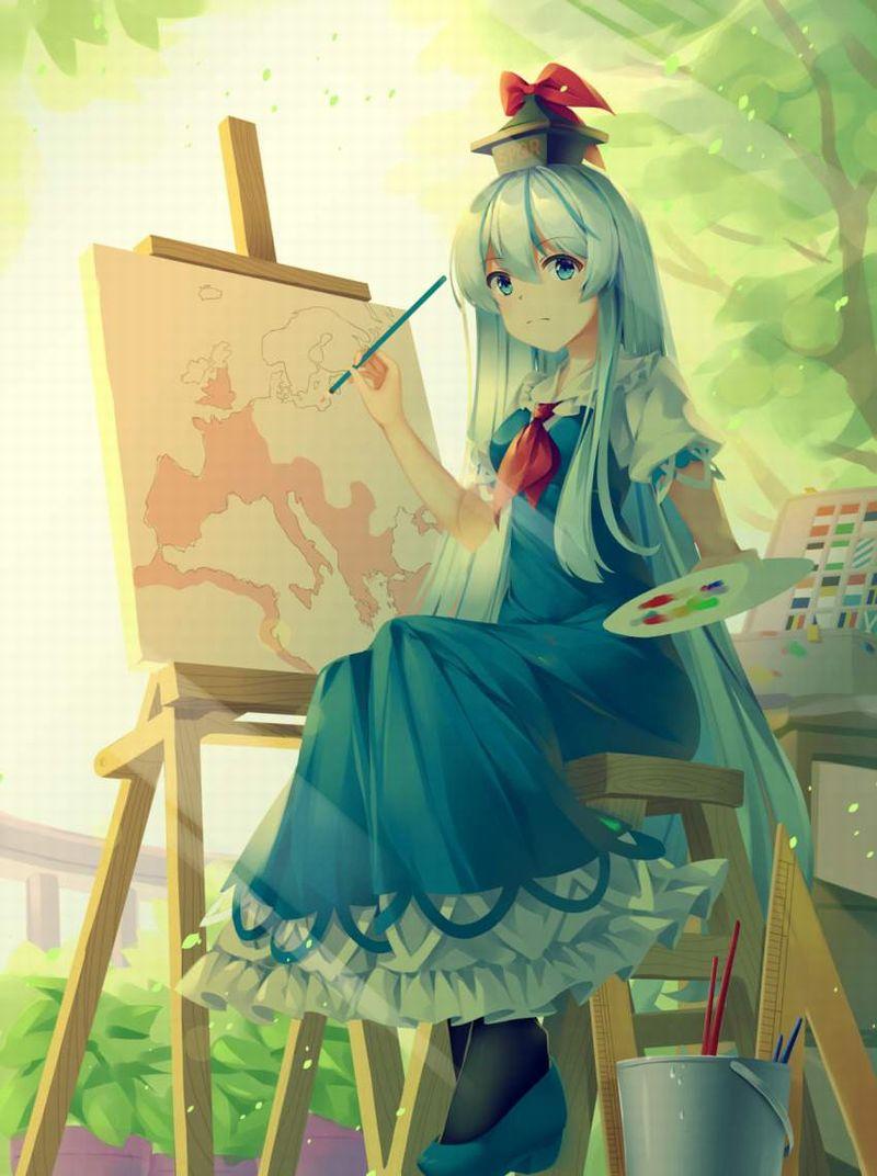 【芸術の秋】キャンバスと向き合う女子達の二次エロ画像【12】