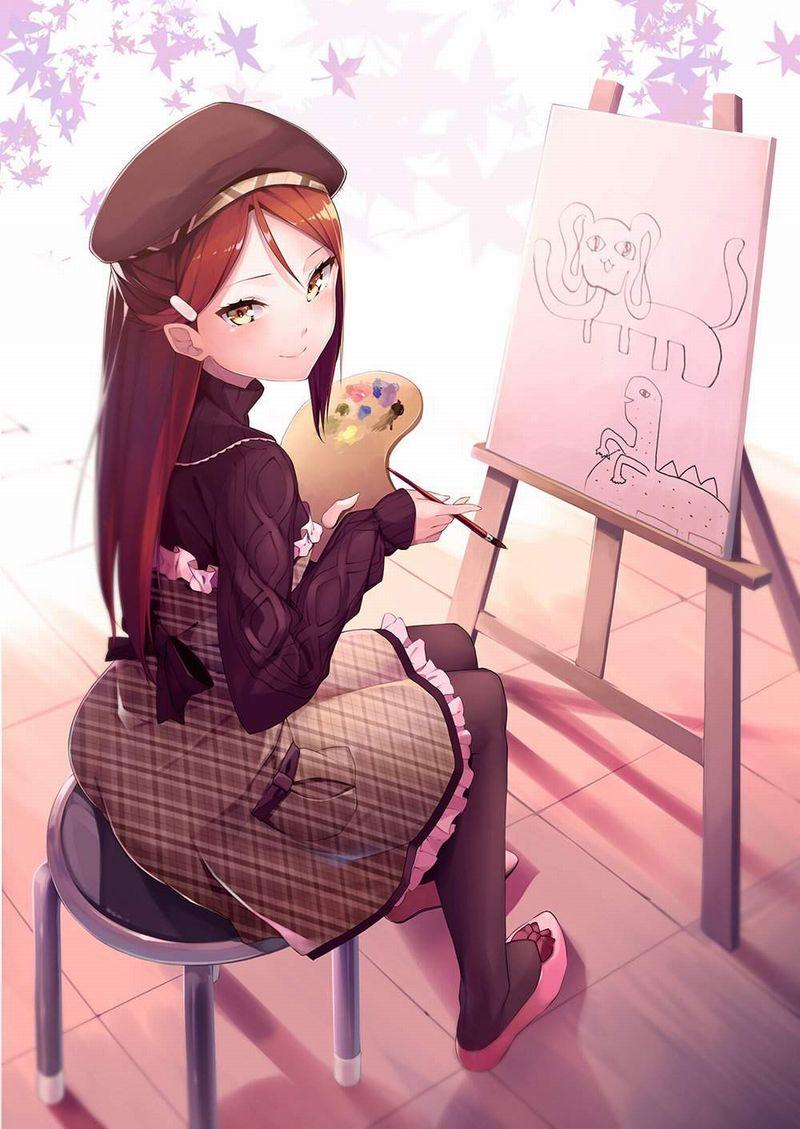 【芸術の秋】キャンバスと向き合う女子達の二次エロ画像【14】