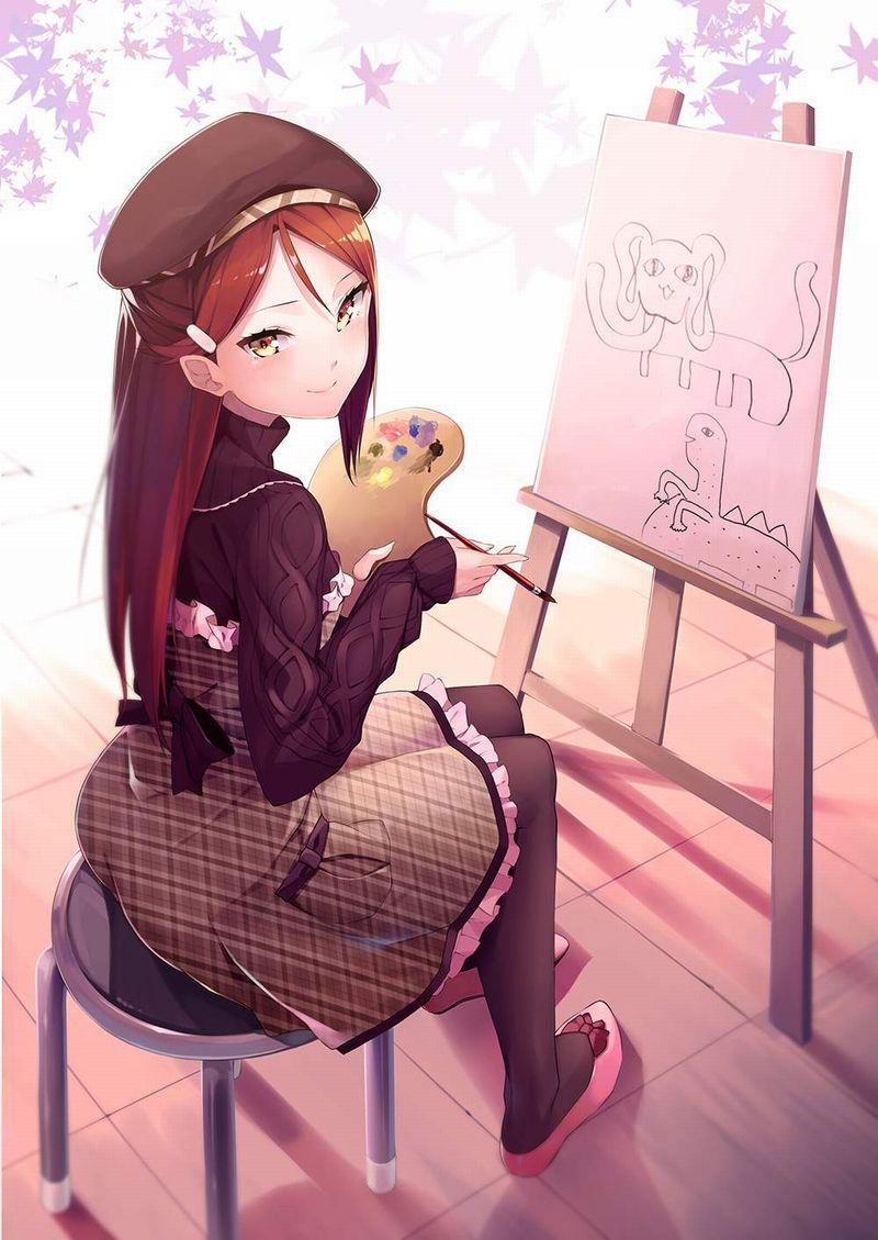 【芸術の秋】キャンバスと向き合う女子達の二次エロ画像【15】