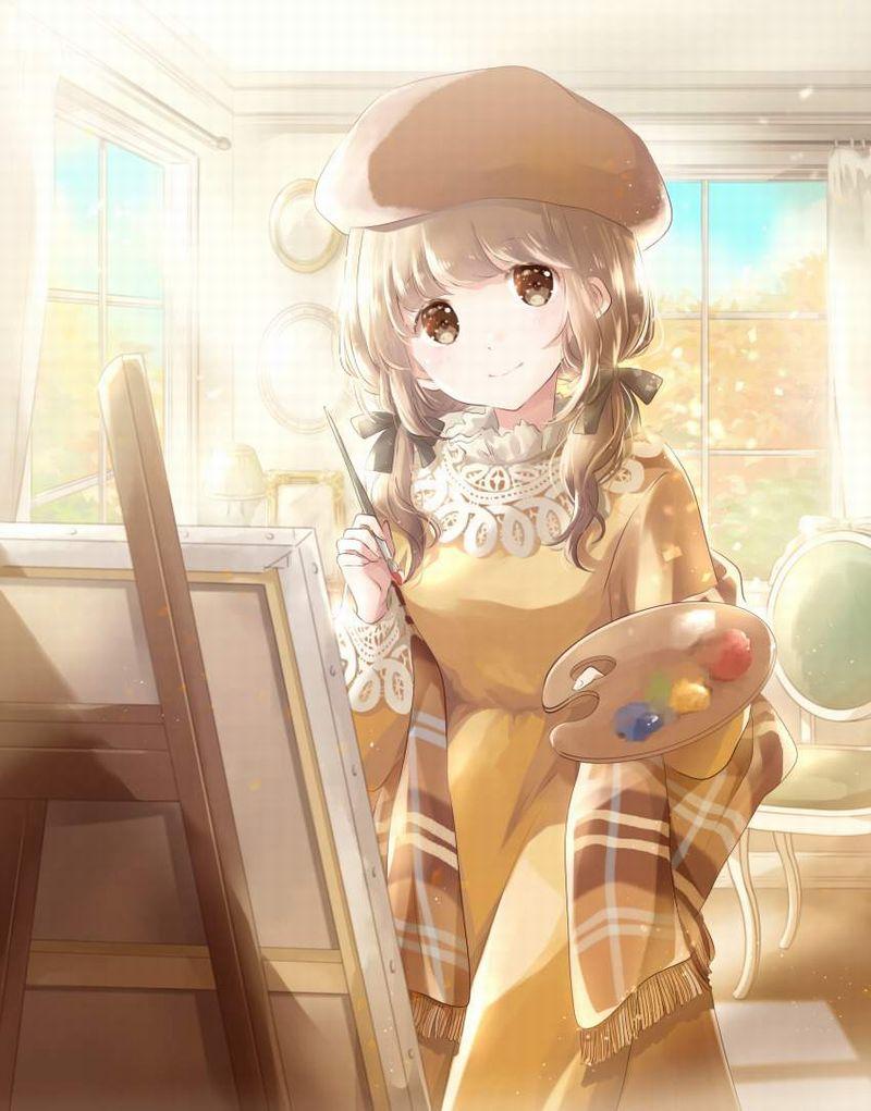 【芸術の秋】キャンバスと向き合う女子達の二次エロ画像【16】