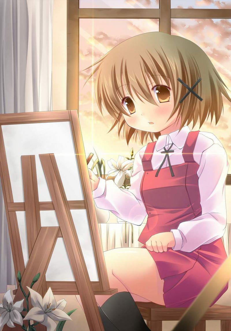 【芸術の秋】キャンバスと向き合う女子達の二次エロ画像【19】