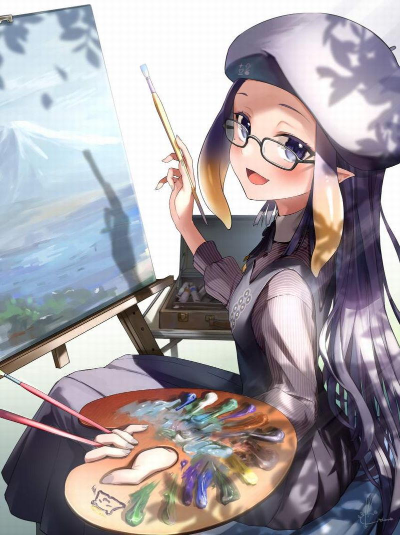 【芸術の秋】キャンバスと向き合う女子達の二次エロ画像【22】