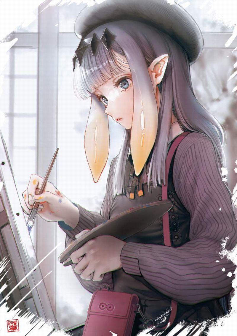 【芸術の秋】キャンバスと向き合う女子達の二次エロ画像【30】