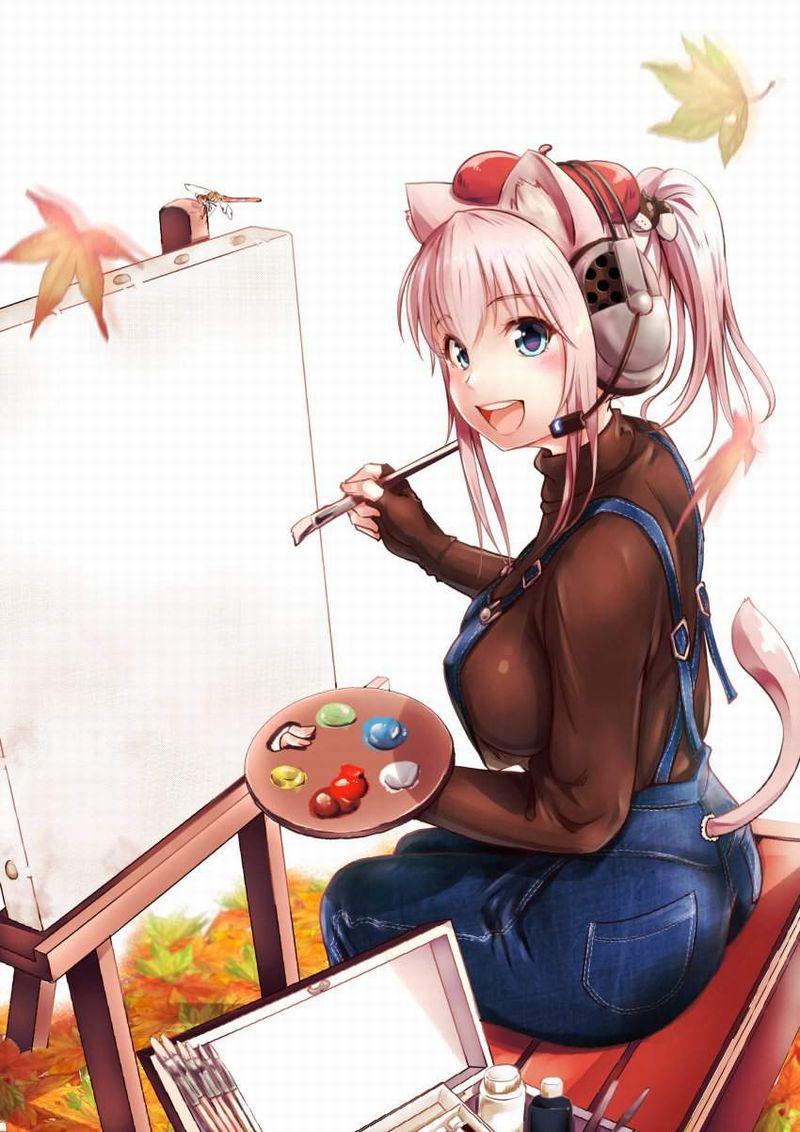 【芸術の秋】キャンバスと向き合う女子達の二次エロ画像【37】