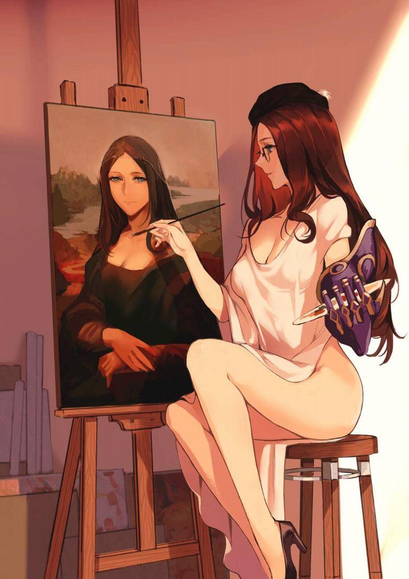 【芸術の秋】キャンバスと向き合う女子達の二次エロ画像【38】