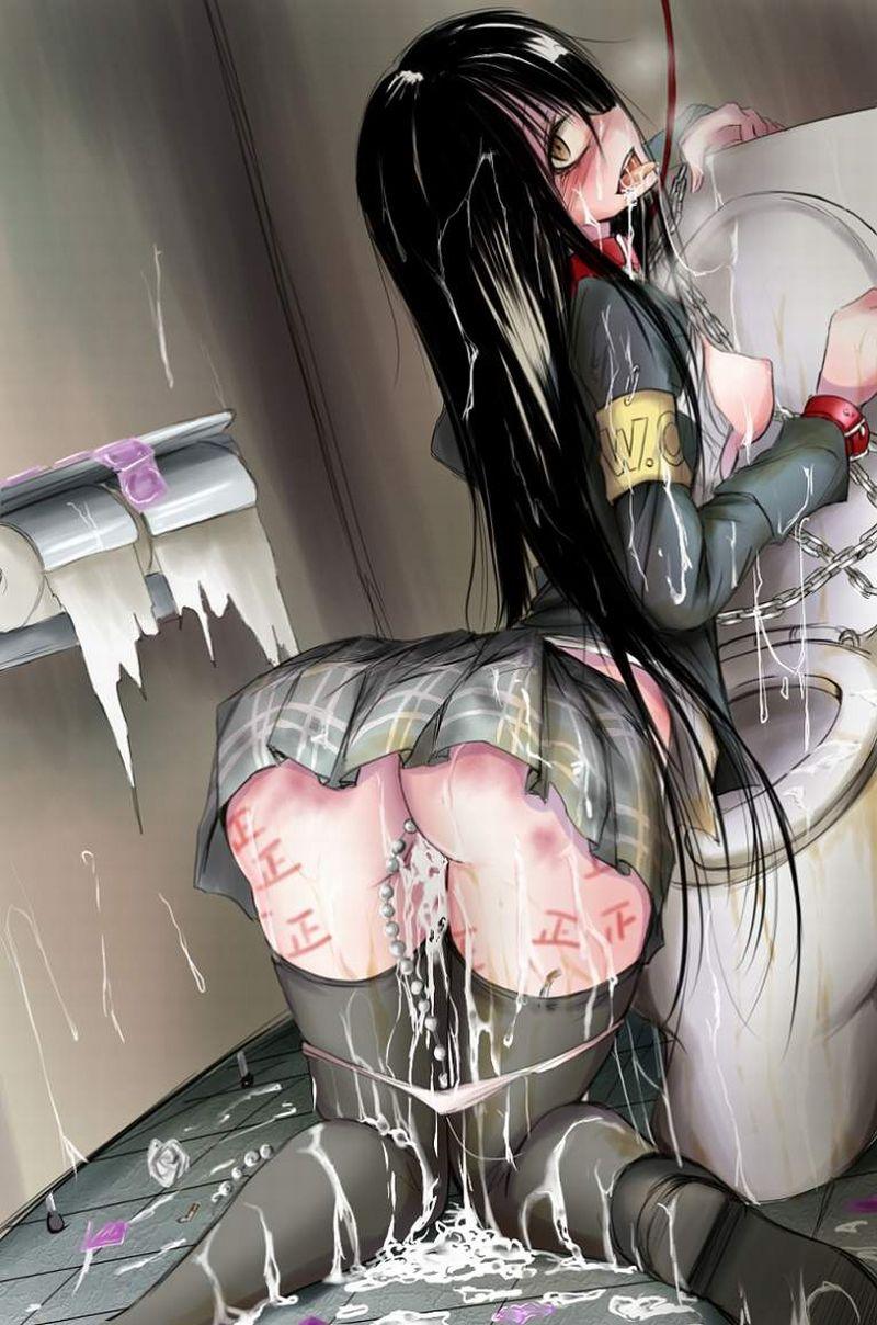 【二次被害に合いそう】公衆便所でレイプ後、放置されてる女子達の二次エロ画像【15】