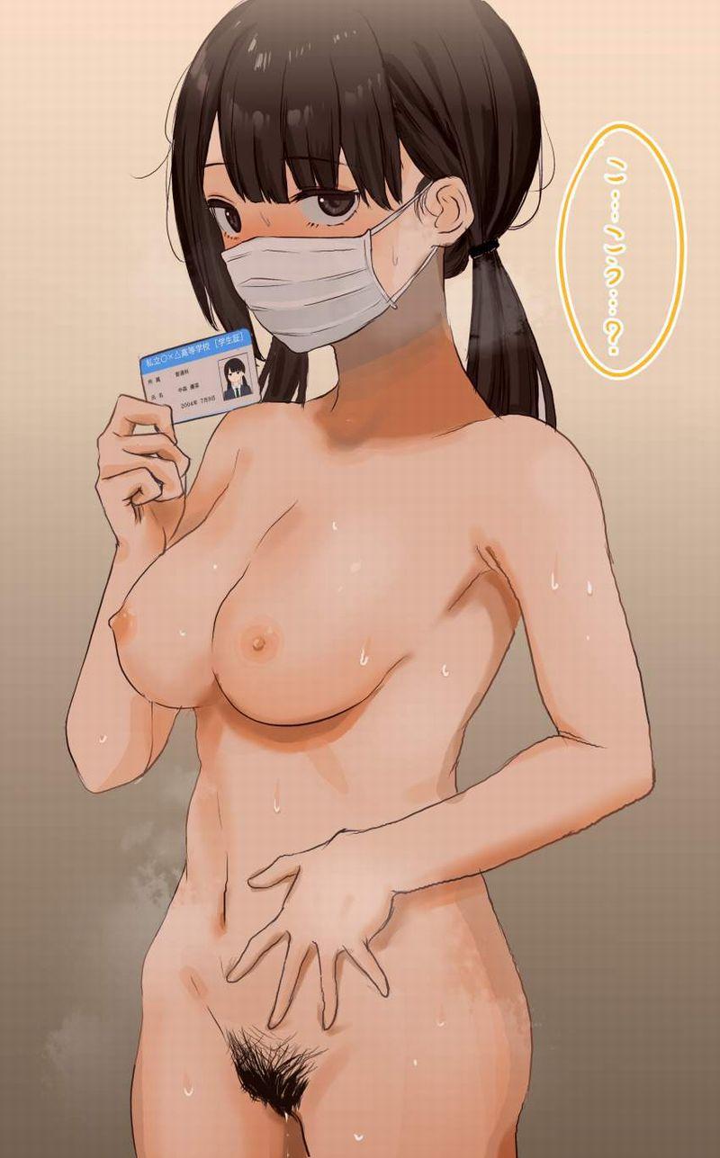 【エロ配信者の正装】マスクで顔は隠して脱いでる女子達の二次エロ画像【4】