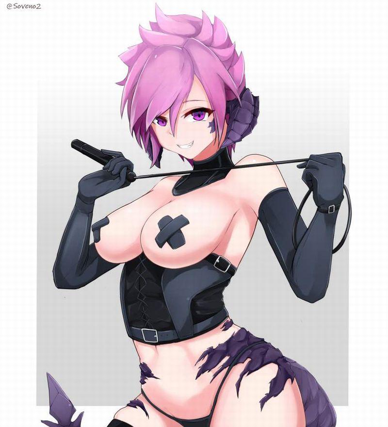 【エガちゃんねるスタイル】乳首を黒バッテンで隠す女子達の二次エロ画像【31】