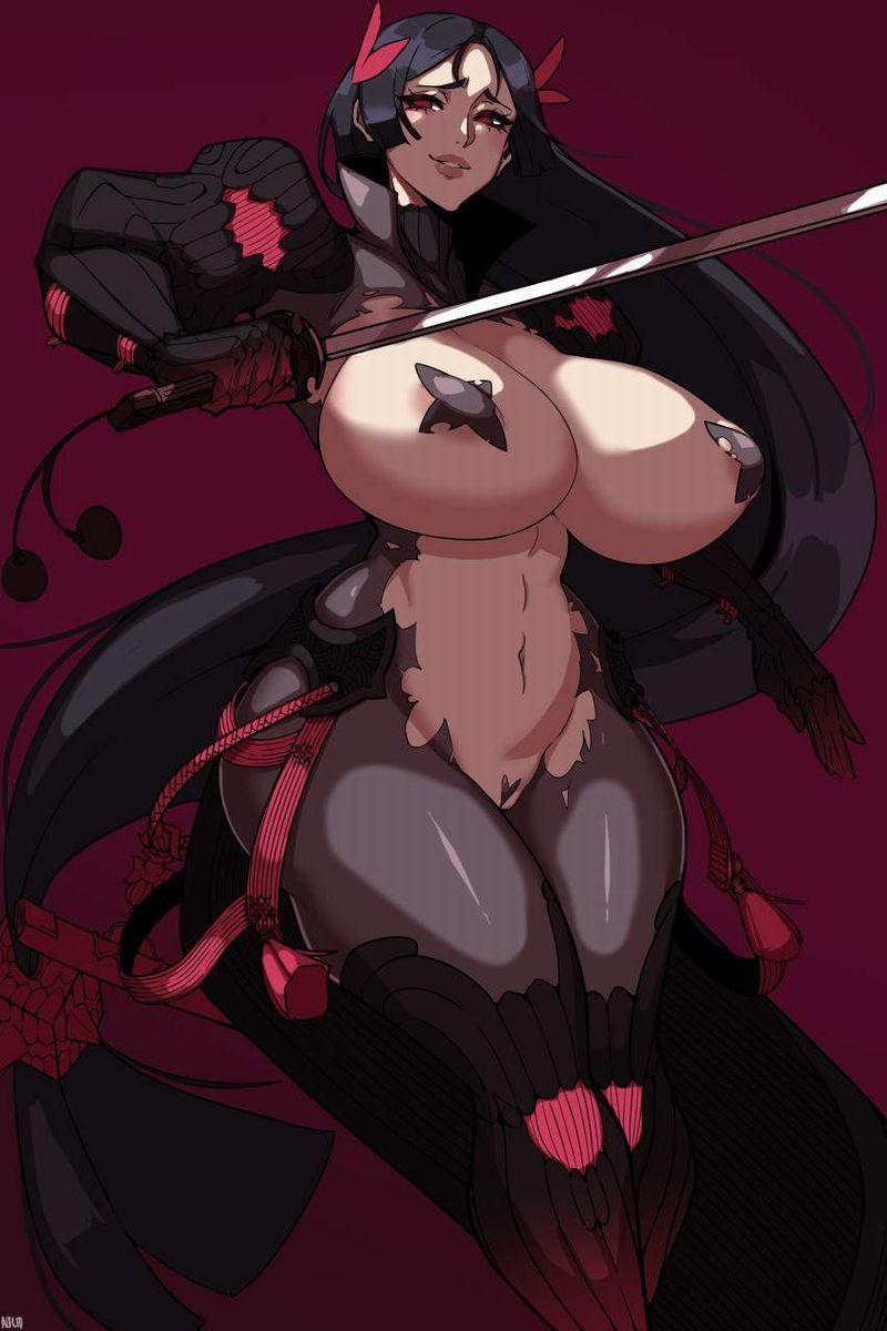 【エガちゃんねるスタイル】乳首を黒バッテンで隠す女子達の二次エロ画像【32】