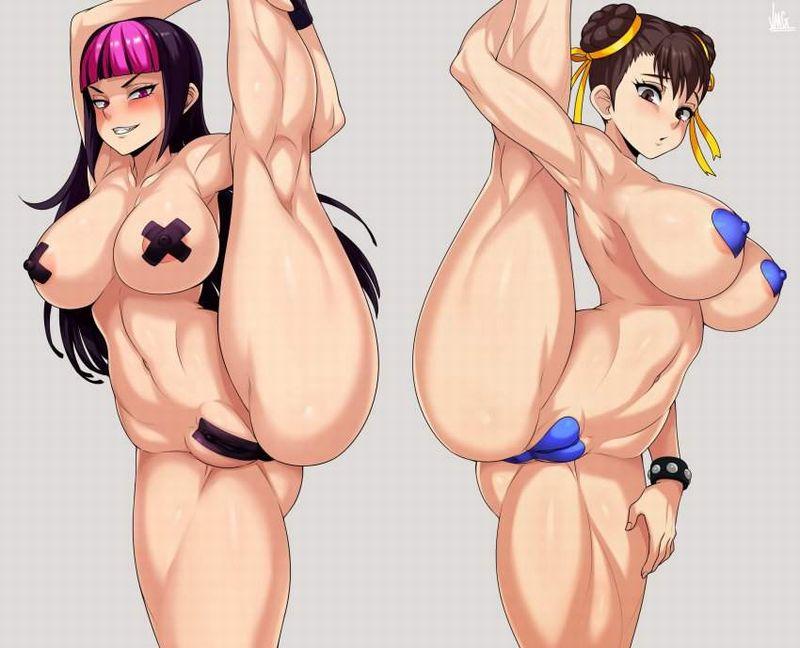 【エガちゃんねるスタイル】乳首を黒バッテンで隠す女子達の二次エロ画像【38】