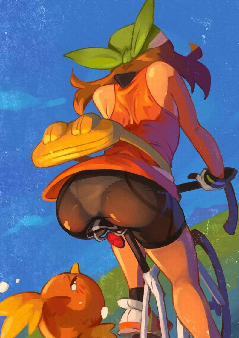 【偶然の産物】自然な自転車パンチラの二次エロ画像【19】