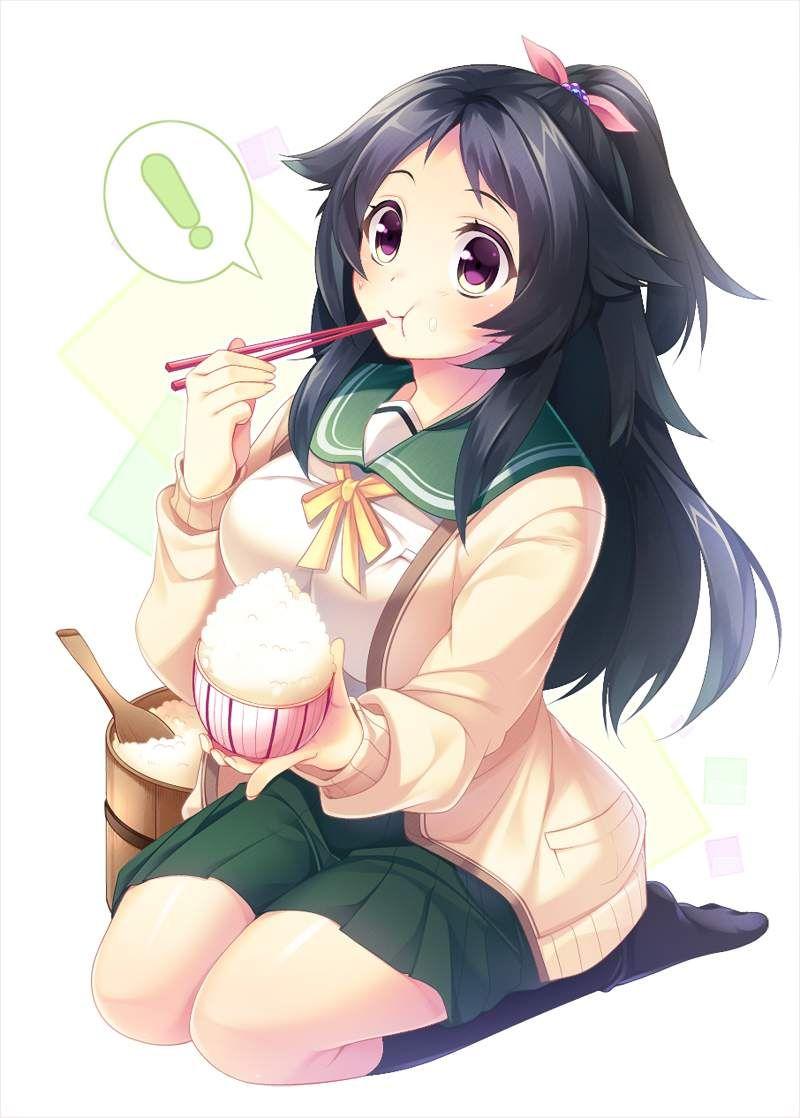 【まんが日本昔ばなし】茶碗てんこ盛りのご飯と女子の二次画像【17】
