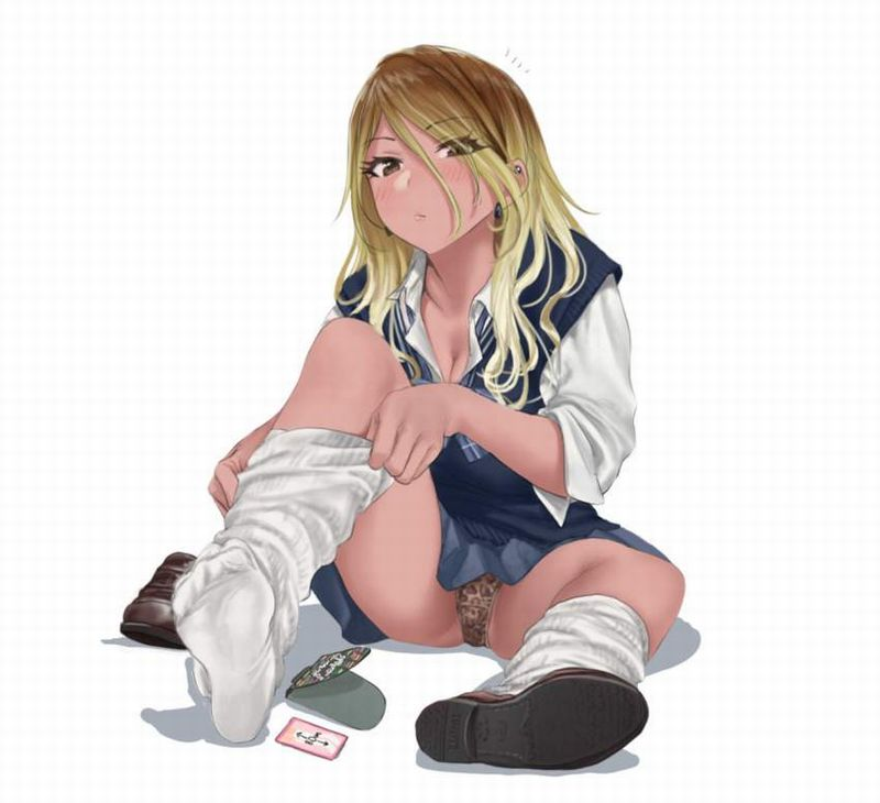 【二次】女子高生達の無防備な座りパンチラ画像【5】