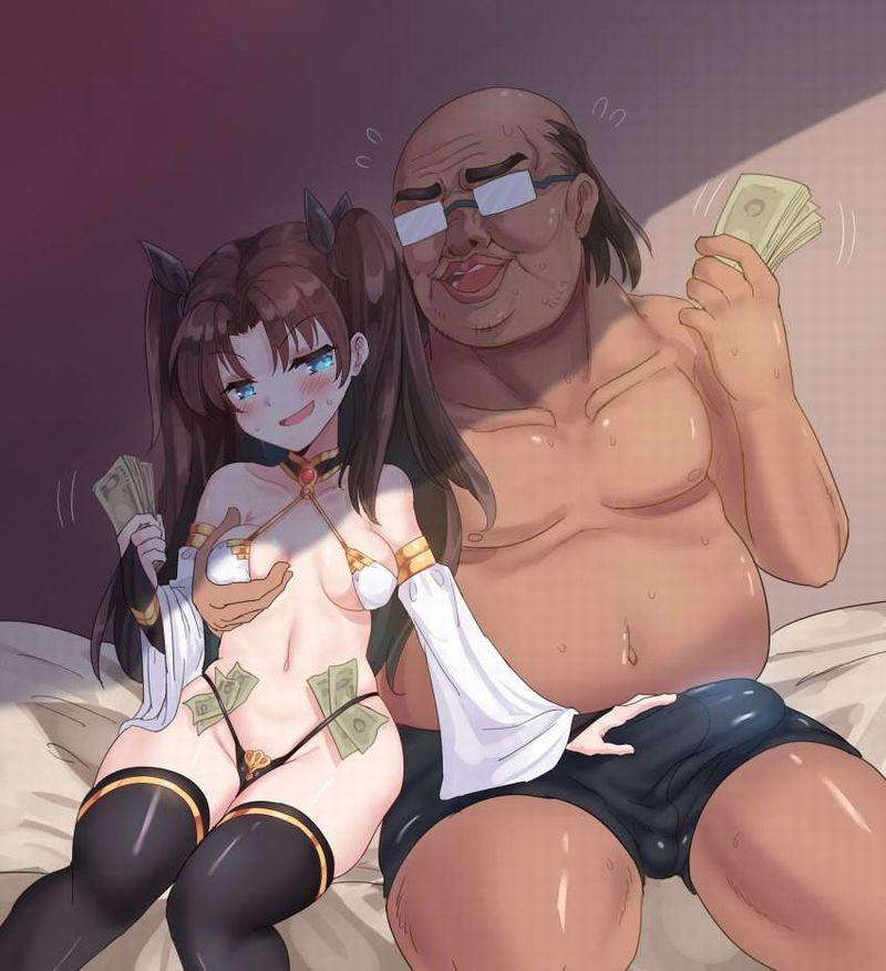 【資本主義社会の縮図】金持ってそうなオッサンが若い女を抱いてる二次エロ画像【40】